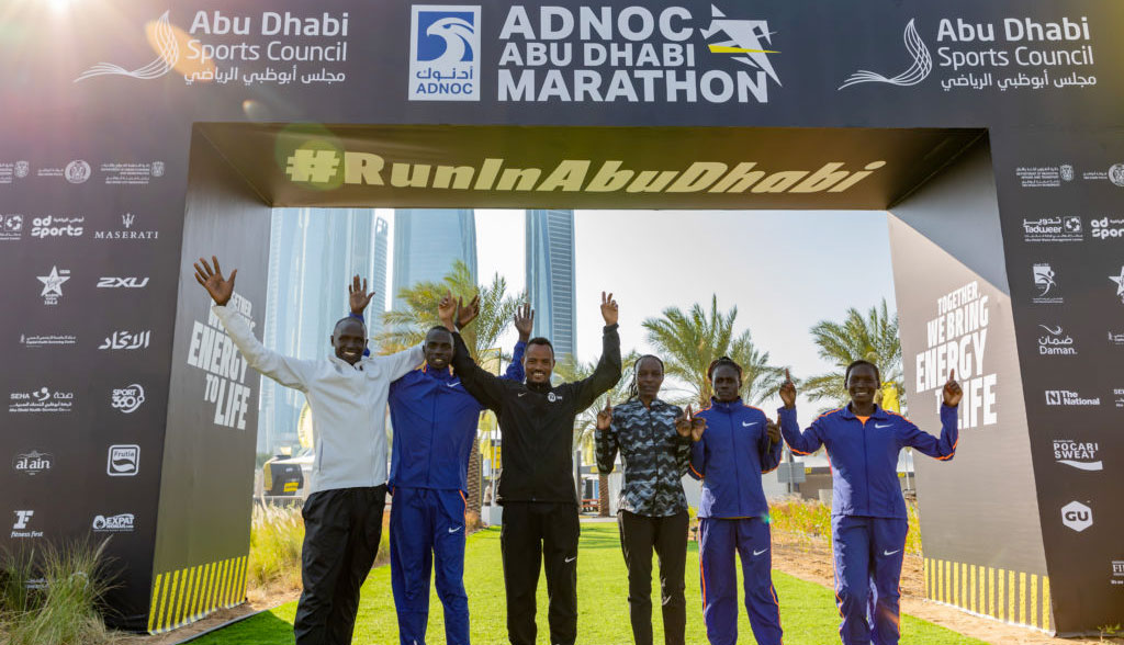 Word-class elite runners join 2019 Adnoc Abu Dhabi Marathon